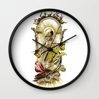 tarot Wall Clocks featuring Sun Tarot by A Hymn To Humanity