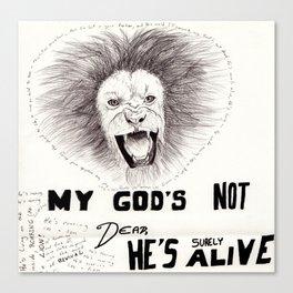 God's Not Dead Canvas Print
