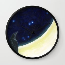 Perched on the Moon -The Groundbird Wall Clock
