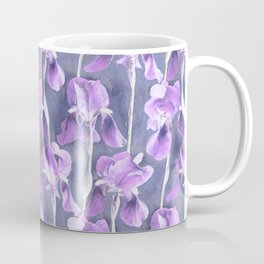 Simple Iris Pattern in Pastel Purple Coffee Mug