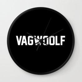 VagWoolf2 Wall Clock