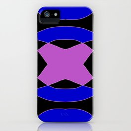 Abstract Purple Blue Pink Black Church Window iPhone Case
