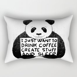 I Just Want To Drink Coffee, Create Stuff and Sleep Rectangular Pillow