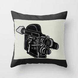 16mm Camera Throw Pillow