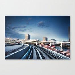 fast train in tokyo Canvas Print