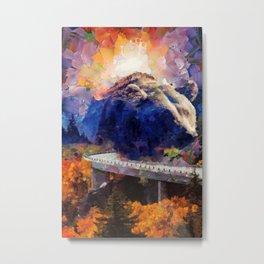 Big mountain bear on highway Metal Print