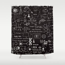 Science Madness Shower Curtain