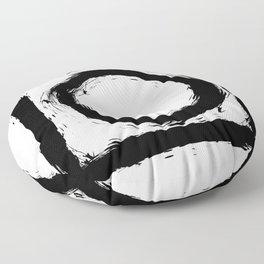 Black and white shapes splatter Floor Pillow