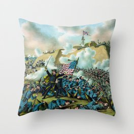 The Capture of Fort Fisher - Civil War Throw Pillow