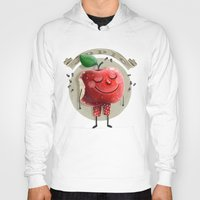 apple Hoodies featuring Apple by Lime