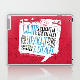 There Shouldn't Be A Default - Simon vs the Homo Sapiens Agenda book quote design Laptop & iPad Skin