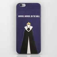 evil queen iPhone & iPod Skins featuring Disney Villain - Evil Queen by Tessa Simpson