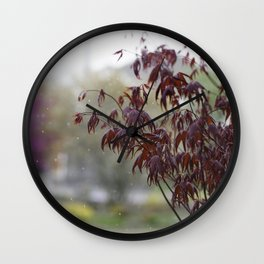 A dusting of snow Wall Clock