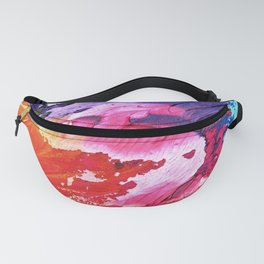 Multi watercolor abstract texture Fanny Pack