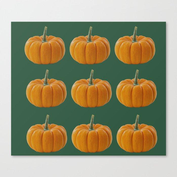 pumpkin pattern  Canvas Print