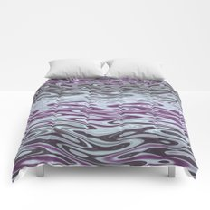 Ripples Fractal in Muted Plums Comforters