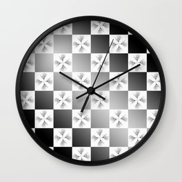 Pussy Checkerboard Abstract Wall Clock