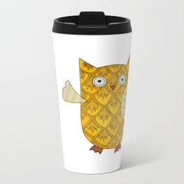 4 Gold Owls Metal Travel Mug