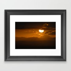 Sun after the storm.  Framed Art Print