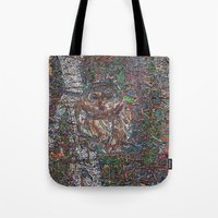 free shipping Tote Bags featuring Owl in a Birch Grove by Juliana Kroscen