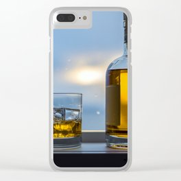 Evening Cocktail on Ice Clear iPhone Case