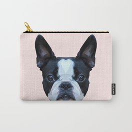 Frenchie / Boston Terrier // Pastel Pink Carry-All Pouch