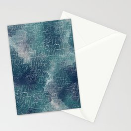 Abstract Grunge in Teal and Navy Stationery Cards