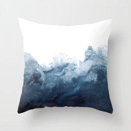 Indigo Depths No. 2 Throw Pillow