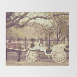 New Orleans Carriage Ride Throw Blanket
