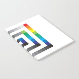 Rainbow Squares Pattern Notebook