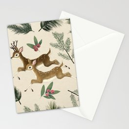winter deer // repeat pattern Stationery Cards
