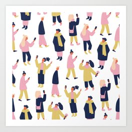 Social Media People Pattern Art Print