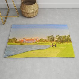 TPC Sawgrass Golf Course 18th Hole And Clubhouse Rug