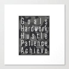 Way to success - goals, hardwork, hustle, patience, achieve Canvas Print