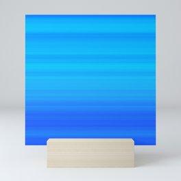 Blue Sea Stripes Mini Art Print