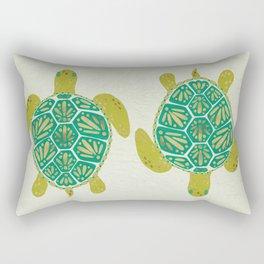 Green Sea Turtle Rectangular Pillow