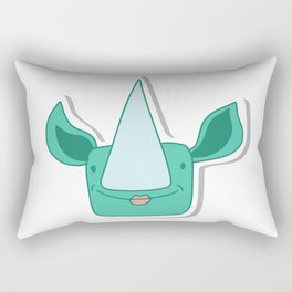 rhino girl with big sharp nose Rectangular Pillow