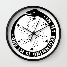 Ouroboros In My Beginning Is My End Wall Clock