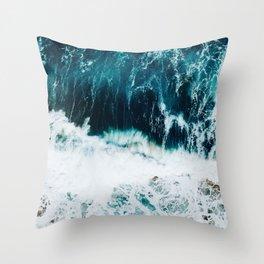 Ocean Blues II Throw Pillow