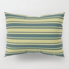 Dark Khaki and Dark Slate Gray Colored Lined/Striped Pattern Pillow Sham