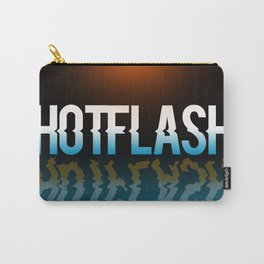 Hot Flash - Black Background Carry-All Pouch