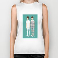 tegan and sara Biker Tanks featuring Tegan and Sara: Call It Off by Cas.