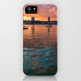 Hudson River Sunset iPhone Case