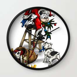 Merry Christmas from Cowman Wall Clock