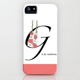 Gladiolas Iphone iPhone Case