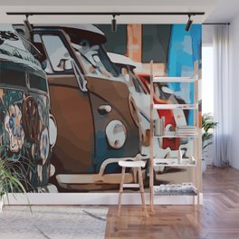 On adventure with the roadtrip bus Wall Mural