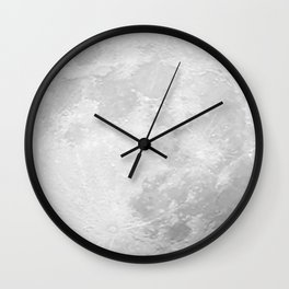 CHALK WHITE MOON Wall Clock