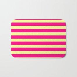 marinière mariniere pink and yellow Bath Mat
