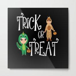 Trick or treat Kids funny Halloween Costume Metal Print