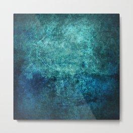 Turquoise Ocean Marble Metal Print